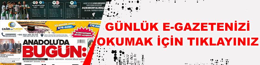 E-Gazete Konya Haber   Mobil Haber Konya   E-Gazete Oku Konya e Haber Konya  Anadolu'da Bugün 18-11-2017 e Gazete Konya #KonyaHaber